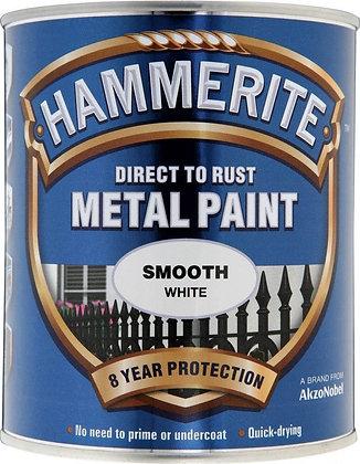 Hammerite Metal Paint 750ml SMOOTH WHITE