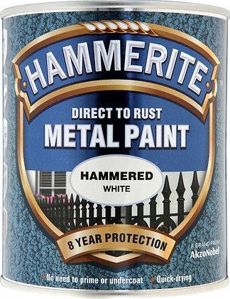 Hammerite Metal Paint 750ml HAMMERED WHITE