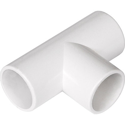 Overflow Push-fit Solvent Tee 21.5mm White EOS07W