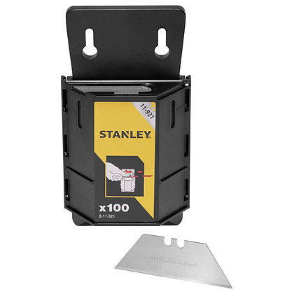 Stanley Heavy Duty Trimming Knife Blades Box of 100 Dispenser 8-11-921