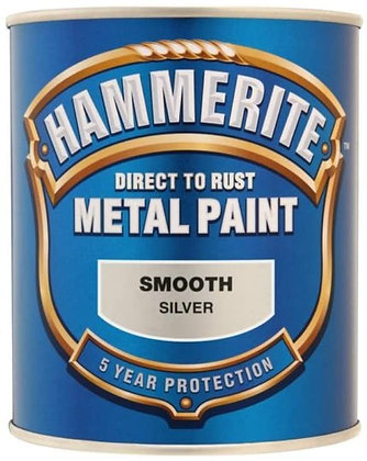 Hammerite Metal Paint 750ml SMOOTH SILVER