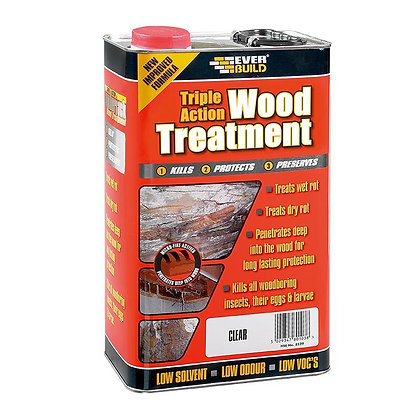 Lumberjack Triple Action Wood Treatment Clear 25 Litre