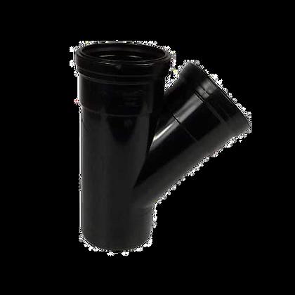 Push-Fit Soil 110mm DS Branch 45deg Black S27 SPB0014