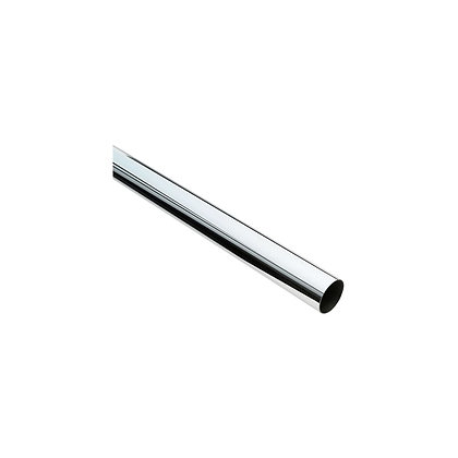 CP Chrome Wardrobe Rail Tube 25mm 2.4m 8ft