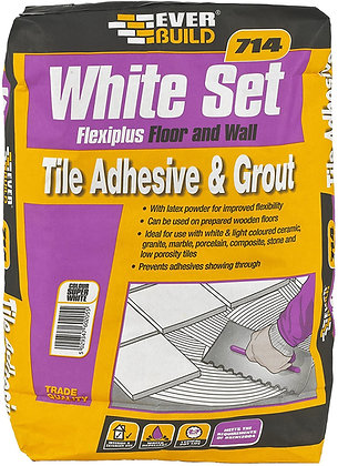 714 Rapid Set Flexiplus Tile Mortar Adhesive 20kg White