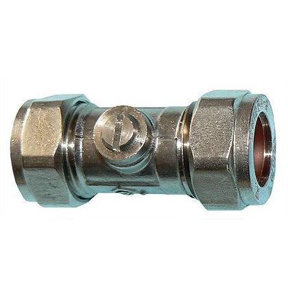 Isolation Valve Brass CP QQE 15mm 10030209