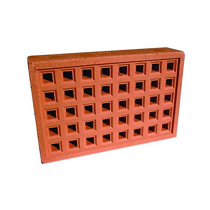 Air Brick 215x140mm Square Hole Red YA14R
