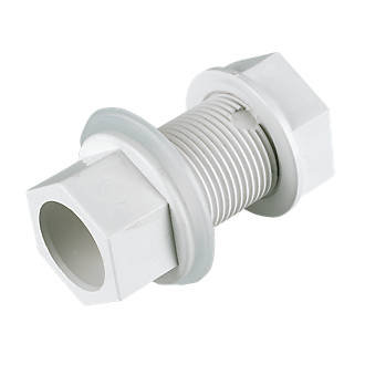 Overflow Push-fit Solvent Tank Connector 21.5mm White EOS08W
