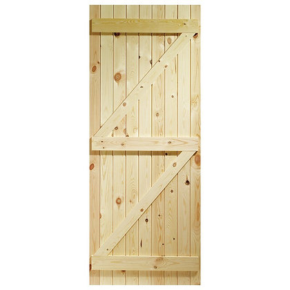 External Ledged and Braced Softwood Door 762 x 1981mm 26x66