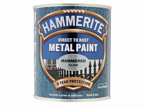Hammerite Metal Paint 750ml HAMMERED SILVER