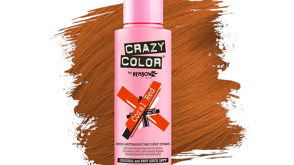 Crazy Color - Coral Red, 100ml