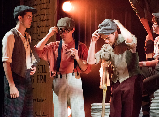 Young arts journalists give backstage views into Floyd Central's 'Newsies'