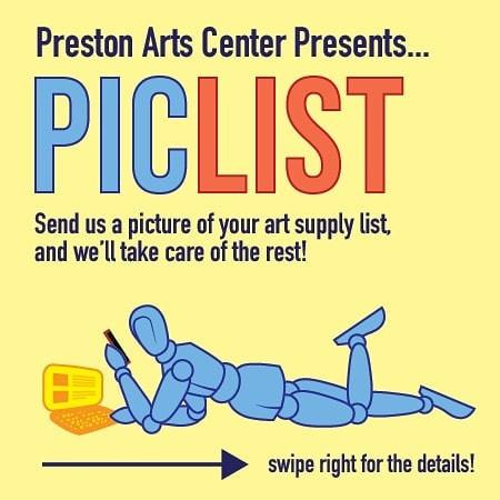 Preston Art Center PICLIST
