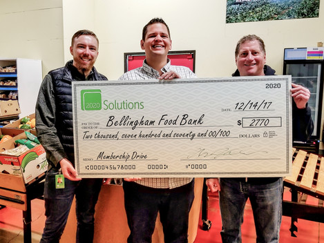 2020 Solutions donates $2,770 to Bellingham Food Bank