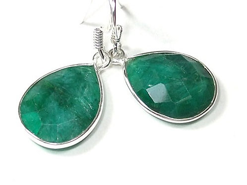 Emerald Yin Drop Earrings
