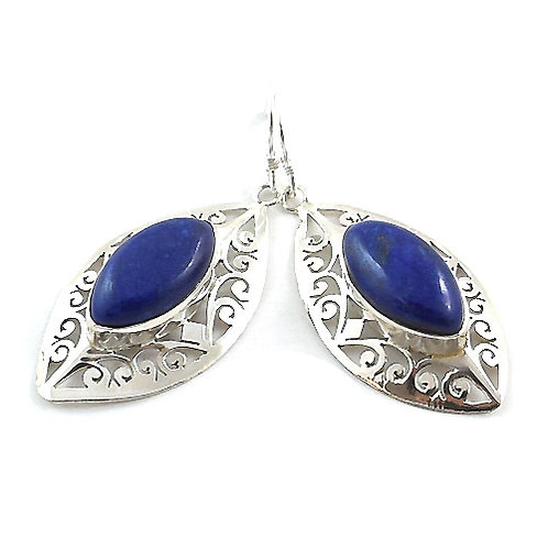 Lapis Lazuli Isis Marquise Drop Earrings