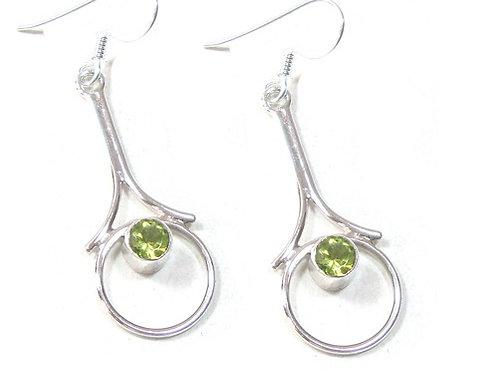 Infinity Peridot Earrings