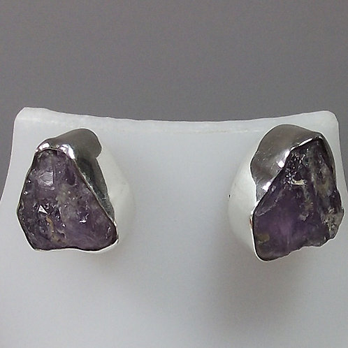 Hera Amethyst Rough Studs