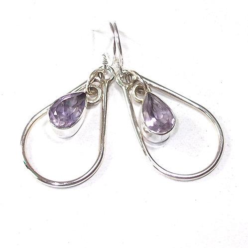 Artemis Amethyst Teardrop Earrings