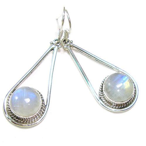 Devine Goddess Moonstone Drop Earrings
