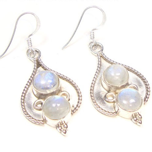 Moonstone Hara Goddess Earrings