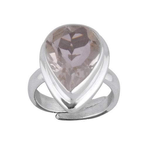 Akasha Clear Quartz Pear Ring