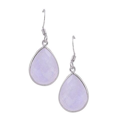 Moonstone Yin Drop Earrings