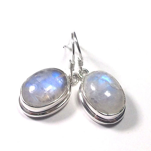 Luna Goddess Moonstone Drop Earrings