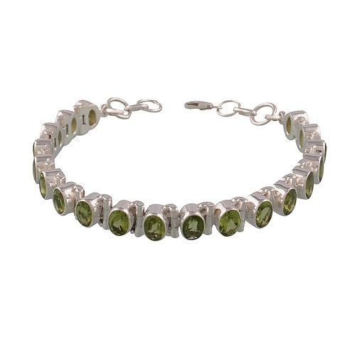 Infinity Peridot Bracelet