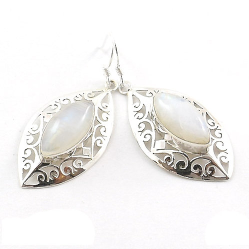 Freya Marquise Moonstone Earrings