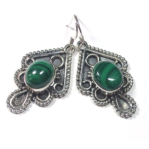 Karma Malachite Earrings