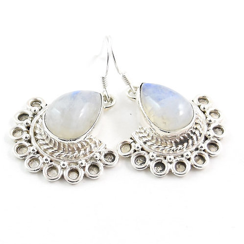 Freya Goddess Moonstone Teardrop Earrings