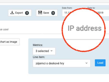 Ověřte si IP adresu v adserveru