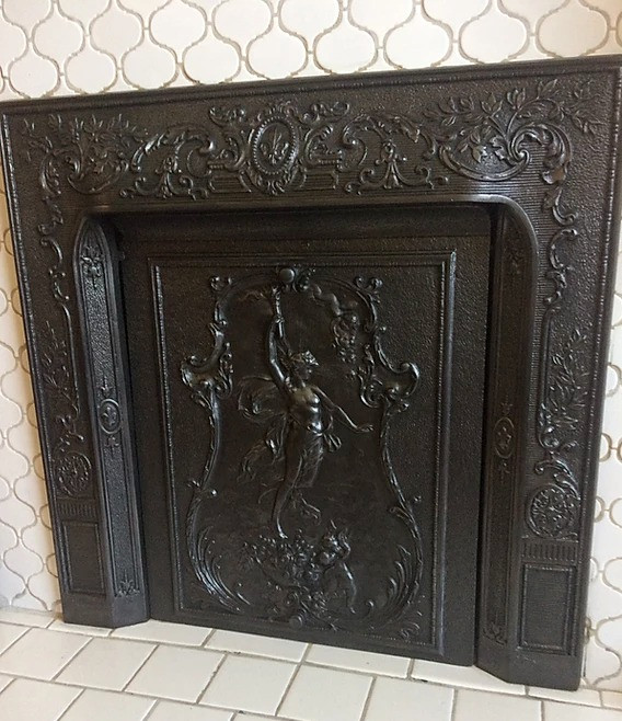 Refinished Fireplace Grate