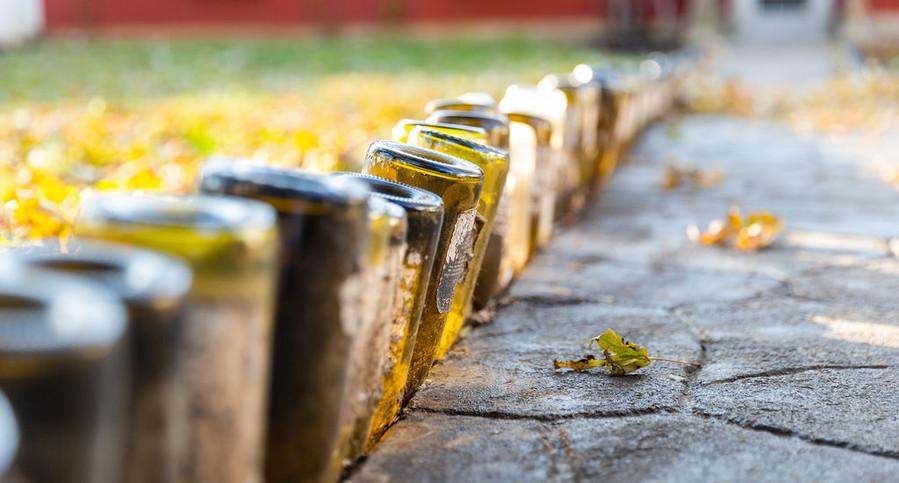 Wine Bottle Walkways