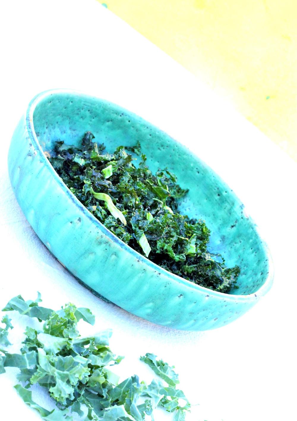 Airfryet grønnkål