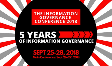 Proud Sponsor of InfoGov Conference September 26-27, 2018