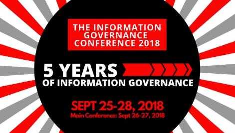 Proud sponsor of InfoGovCon 2018