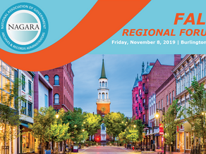 Looking forward to the NAGARA Fall Regional Forum November 8, 2019 in Burlington
