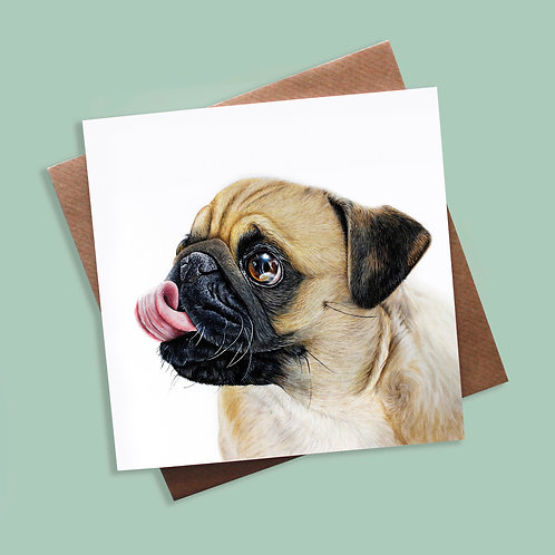 Pug - Greeting Card