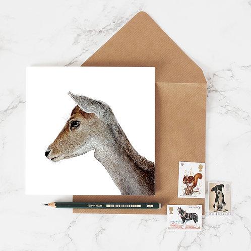 'Serenity' Deer Greeting Card
