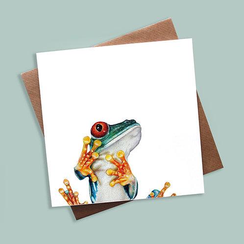 'Peek-a-boo' Frog Greeting Card
