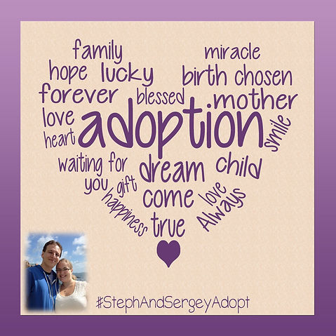 Steph & Sergey wish to adopt a baby. Learn more about us at www.stephandsergeyadopt.com