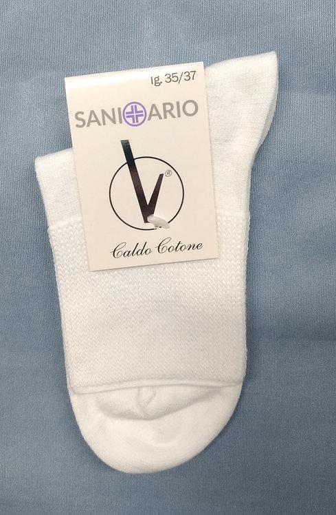 Calzino Sanitario CORTO Caldo Cotone (box 6 pezzi)