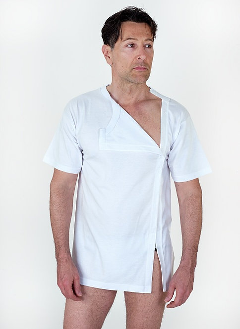 Maglietta post-operatoria aperta davanti