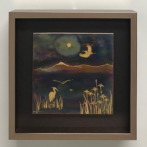 Herons in the Moonlight #5