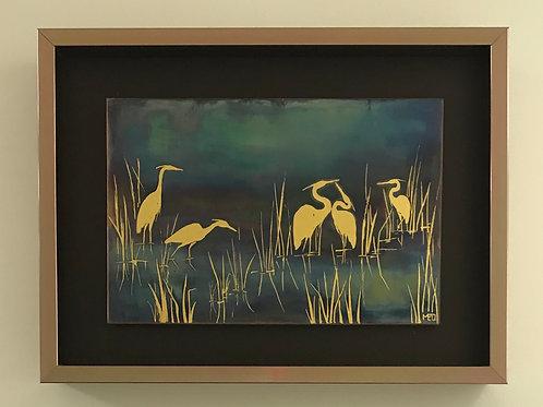 Herons in the Reeds #1