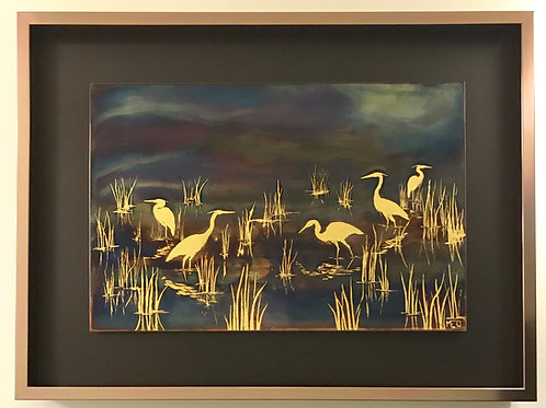 Herons in the Reeds #2