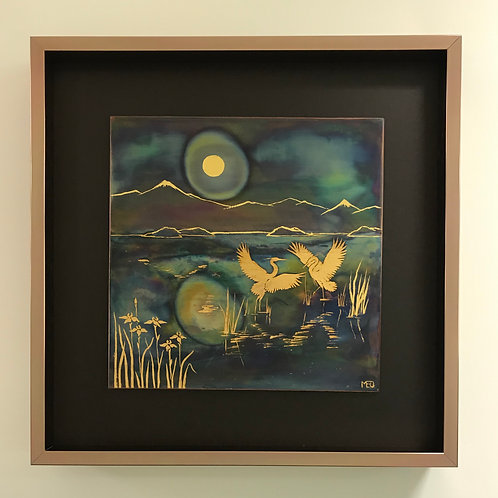 Herons in the Moonlight #6