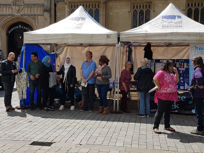 Setting out our stall for Refugee Week